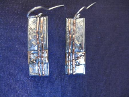 forest earrings plain