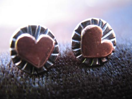 Radiant heart studs