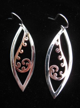 single koru earrings