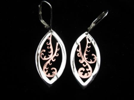 small double koru earrings