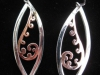 single koru earrings