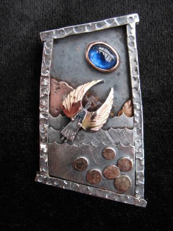 kyanite angel pendant/brooch