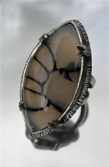 Dragon Vein Agate Ring